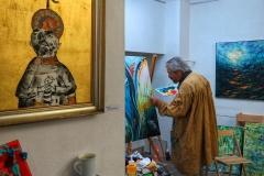 Gemeinschaftsbild am Tag der offenen Ateliers entsteht