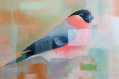 fading bird, ca. 35 x 45 cm, Öl/Ölpapier