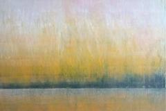 horizontnebel 60 x 60 cm,  Öl/Leinwand